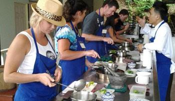 Phuket Thai Cookery School Koh Siray with Tom Yum Kung Soup