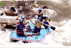 White Water Rafting Phuket on the fresh water with our professional staffs