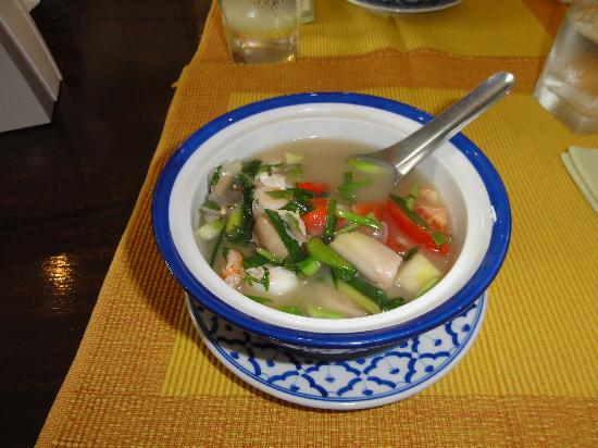 Phuket Cookery School with fresh Ton Yum Soup and areas